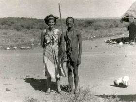 Soshana with tribal people | Africa 1959