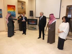 Austrian Ambassador Ulrich Frank, Amos Schueller, Abdul-Aziz Soud Al-Babtain, Suad Abdullah Al-Ateeqi