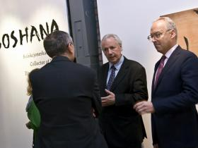 Amos Schueller and the Austrian Consul General Christophe Ceska