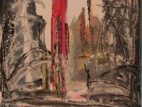 War in Lebanon (1982)   Gouache on Paper   48 x 36 cm