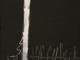 Fence (2008)   Acryl on Canvas     60 x 40 cm
