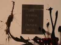 Der Führer hat immer Recht (1987) | Mixed Technique | 45 x 63 cm