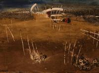 Kosovo II. (1999) | Sand on Canvas | 40 x 60 cm