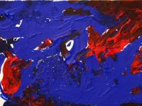 The world from above (2012)   Acryl on Canvas   60cm x 40cm