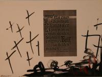 Mit einer Handvoll Fanatiker (1988) | Mixed Technique | 48 x 65 cm