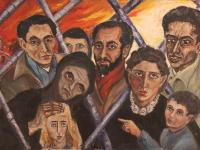 Artists in Paris (1955) | Oil on Canvas | 73 x 100 cm