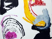 Without Title (2011)   Aquarelle/Guache on Cardboard   108cm x 105cm