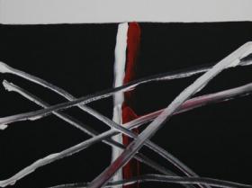 Criss-Cross II. (2008)   Acryl on Canvas   80 x 60 cm