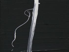 White Lines on Black II. (2008)   Acryl on Canvas   60 x 40 cm
