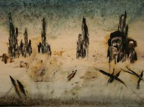 Sarajevo - Two Dead People (1993)   Oil on Canvas   90 x 130 cm