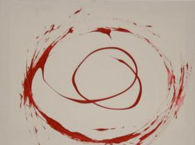 Spinning I. (2008)   Acryl on Canvas   80 x 60 cm