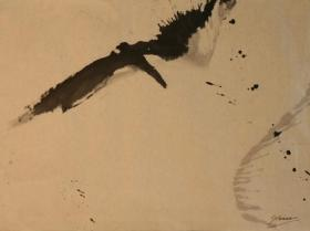 Without Title (1956)   Ink on Paper   61 x 98 cm