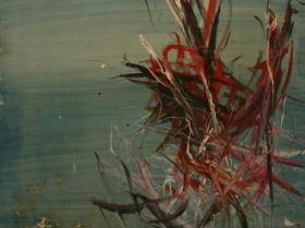 Sealife VIII. (1966)   Oil on Canvas   162 x 96 cm