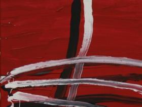 Across on Red (2008)   Acryl on Canvas   60 x 40 cm