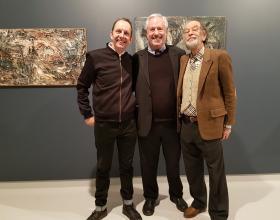 Will Bradley, Director of Kunsthall Oslo, Amos Schueller and Prof. Fulvio Ferrari Director of Museo Casa Mollino, Turino, Italy