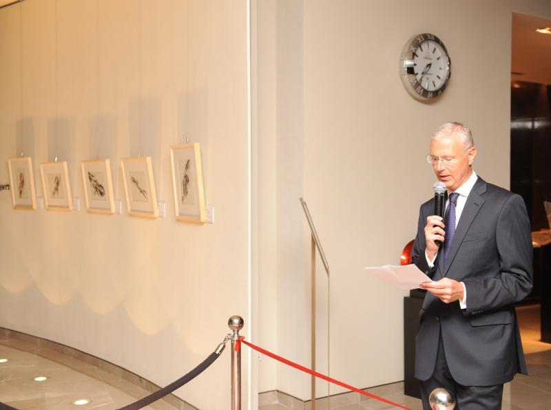 The Austrian Ambassador Peter Elsner-Mackay taking his speech