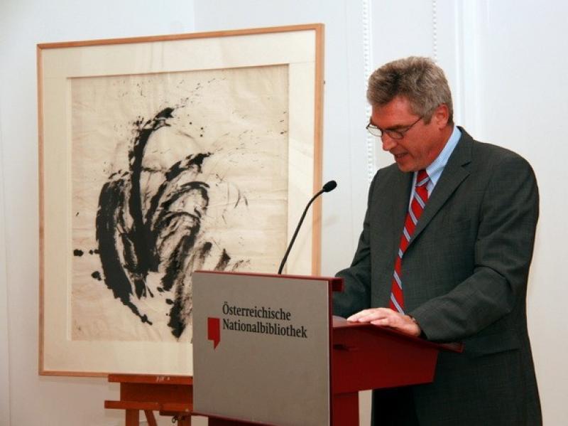 "Prof. Matthias Boeckl, art historian and one of the authors of ""Soshana. Life and Work."""