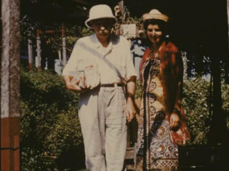 Soshana and Dr. Albert Schweitzer  Lambaréné 1959