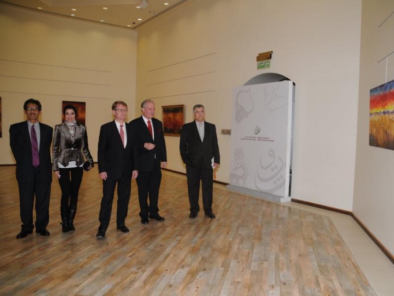 Indonesian Ambassador Chilman Arisman, Areej Rajab, Austrian Ambassador Ulrich Frank, Amos Schueller, Dr. Kadhem E. Rajab
