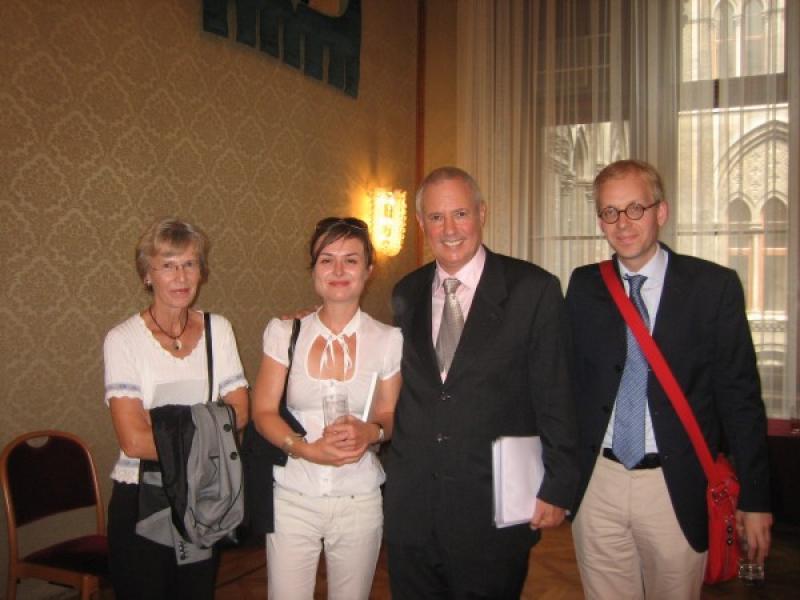 Mrs. Rauchbauer, Mag. Magdalena Gut, Amos Schueller and Mag. Martin Rauchbauer