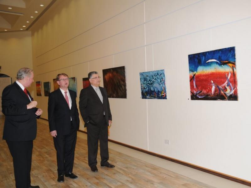 Amos Schueller, Austrian Ambassador Ulrich Frank, Dr. Khadem E. Rajab