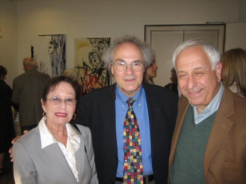Director of Hillel at UCLA, Rabbi Chaim Seidler-Feller with Guests