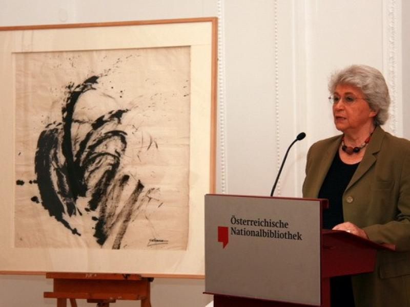 """Prof. Angelica Bäumer, art critic and one of the editors of """"Soshana. Life and Work."""""""
