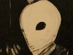 Terrorist in Munich (1972)   Oil on Canvas   115 x 72 cm