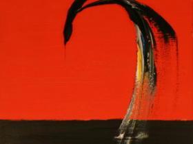 Over the Horizon (1993) | Acryl on Canvas | 100 x 50 cm