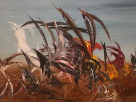 Brazil I. (1961)   Oil on Canvas   98 x 196 cm