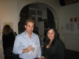 Tania Schueller with friend at opening