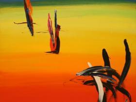 Rainbow (Stamp) (1981)   Oil on Canvas   101 x 76 cm