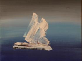 Iceberg (1975)   Acryl on Canvas   61 x 46 cm