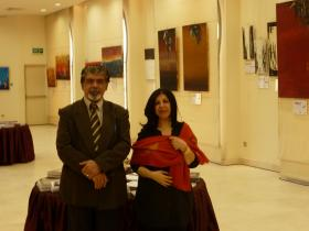 Eng. Hussein M. AL-Jazi and Suad Abdullah Al-Ateeqi (General Manager of A-Babtain Library Kuwait)