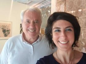 Amos Schueller and Virginia Marano (curator)
