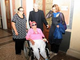 Eva Blimlinger, rector of the Academy of Fine Arts; Amos Schueller; Prof. Marion von Osten and Soshana