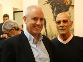 Amos Schueller with dancer & painter Bob Curtis