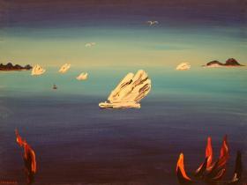 Flying Iceberg (1981)   Oil on Canvas   75 x 101 cm
