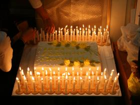 Burning Birthdaycake