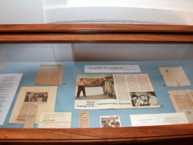 Exhibition of Soshana's photographs and articles about her in the possession of the Austrian National Library